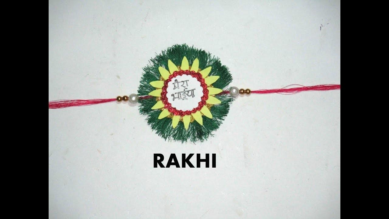 how to make handmade rakhi designs