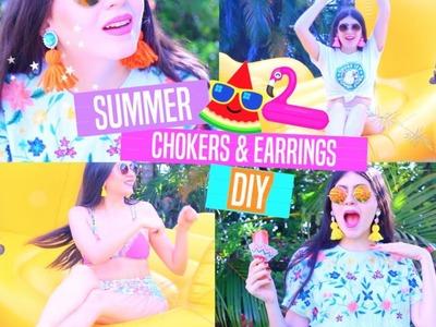 Summer Accessories DIY - Chokers & Earrings!