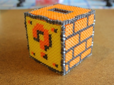 Super Mario Cube Bank - Made with Perler Beads