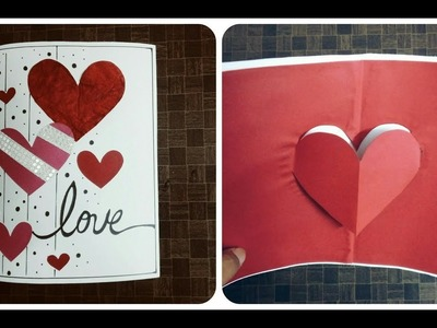 The Beautiful  Pop up heart card by handmade cards ideas: complete tutorial