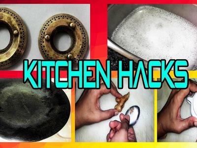 Tips & Tricks for Clean Kitchen || Easy Hacks DIY || [INDIAN KITCHEN TIPS]