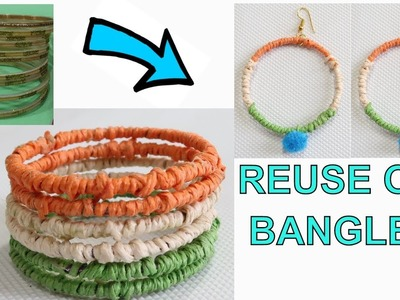 TRICOLOR BANGLES FROM OLD BANGLE | REPUBLIC DAY CRAFT | INDEPENDENCE DAY CRAFT | TRICOLOR  JEWELLERY