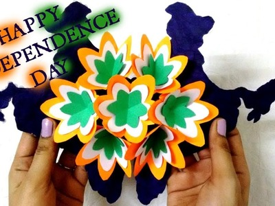 Tricolour Pop Up Greeting Card |Indian Independence Day Special | Patriotic craft