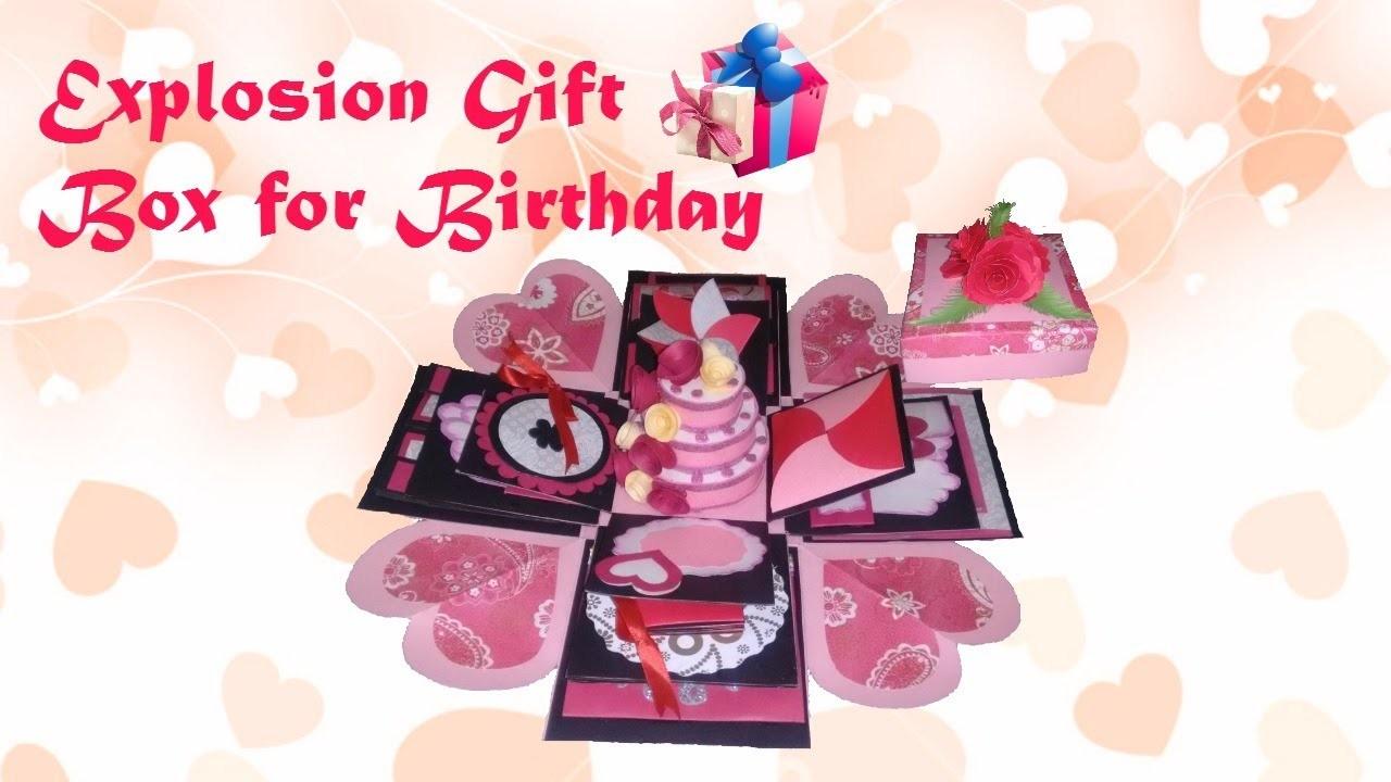 Unique Handmade Explosion Box Birthday Gift Idea With Cake