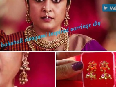 Viewers choice: bahubali ???? actress inspired earrings diy???? with easily available items
