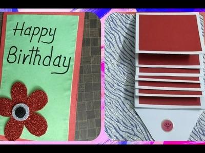 Waterfall Birthday greeting card idea: complete tutorial