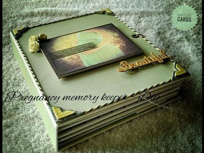 1.Pregnancy memory book- #DIY(scrapbooking ideas)