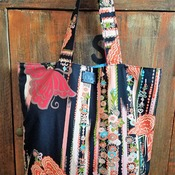 Asian Butterfly Market Bag