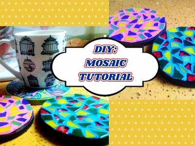 Basic Mosaic Tutorial. DIY: Mosaic Art. Mosaic Coasters