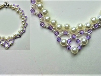 Beaded necklace tutorial for beginners