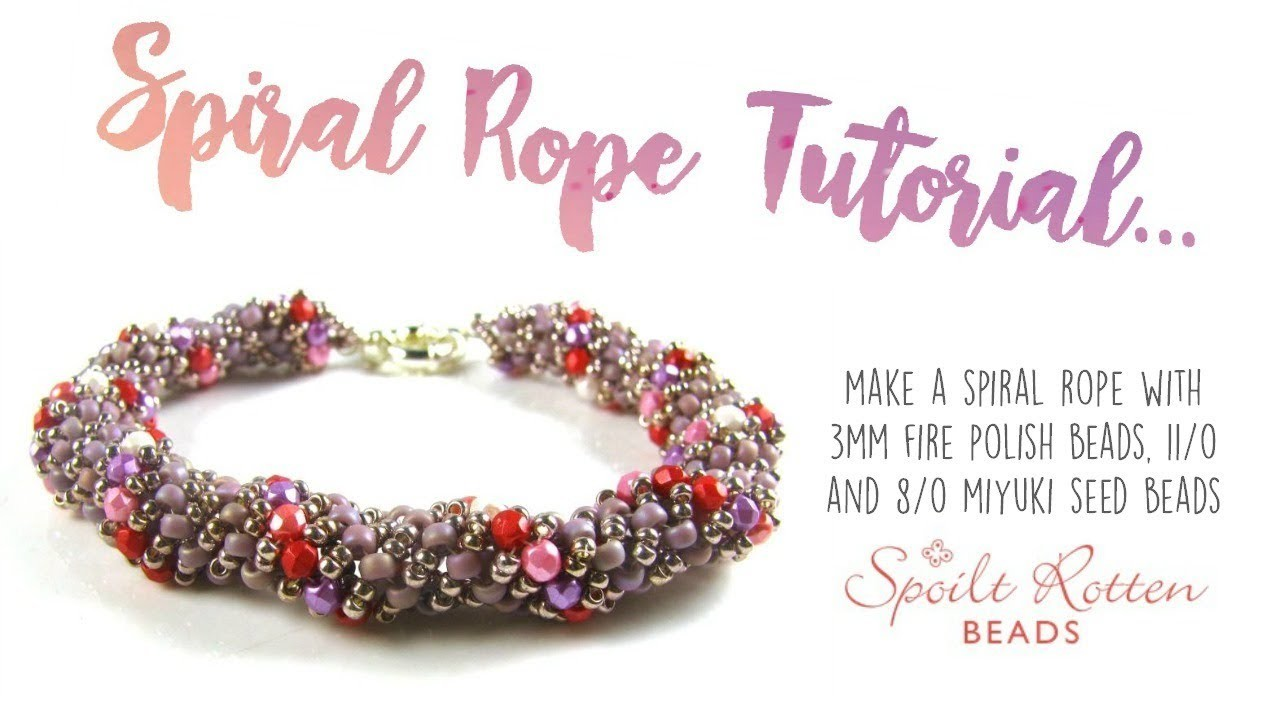 beads beaded spiral rope tutorial bowtique friendship