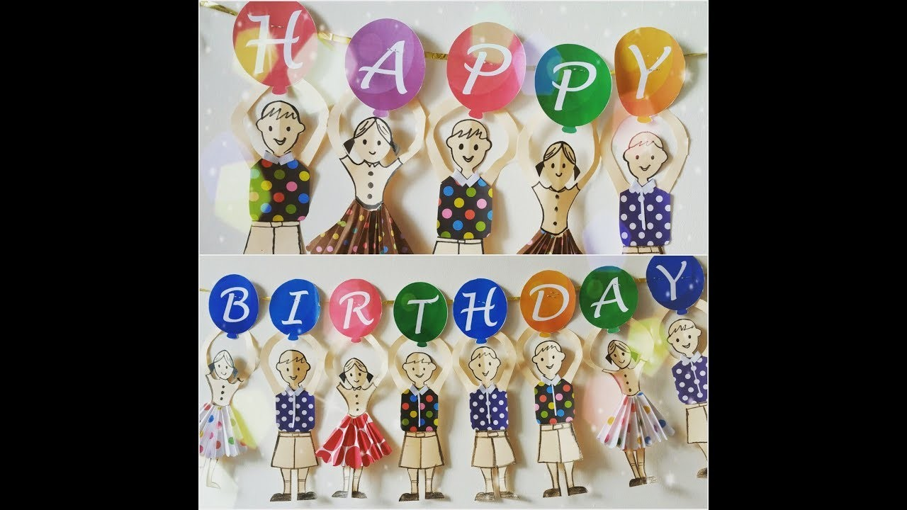 Birthday Party Banner at home| Paper craft | diy birthday banner|kids party