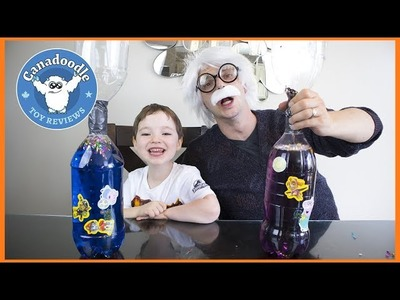 BOTTLE TORNADO EXPERIMENT! Easy DIY Science Experiment for kids Peppa Pig Paw Patrol Stickers