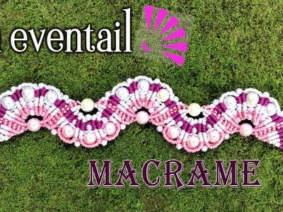 Colorful macrame bracelet En éventail waving - Beautiful pattern macrame with tutorial by Tita