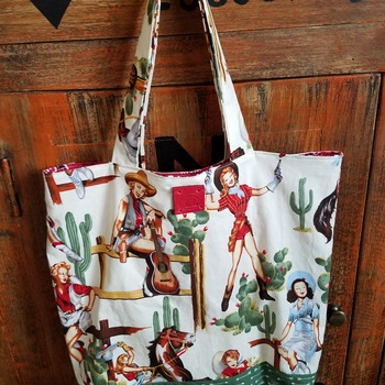 Cowgirl Pin up Market Bag