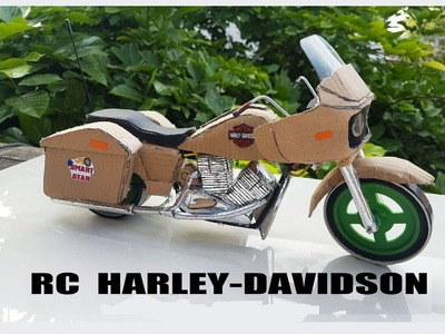 Custom New Harley Davidson || How to make Harley Motorcycle with cardboard || DIY || Electric Harley