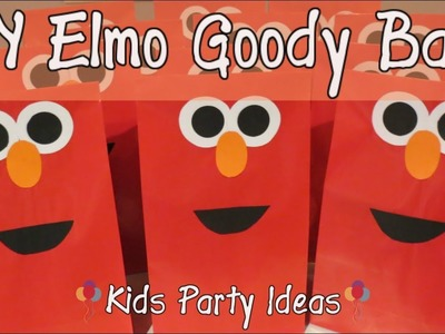 Cute DIY Goody Bag Ideas-Elmo Theme|Kids Party Time