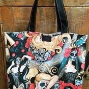 Dia de los muertos market bag