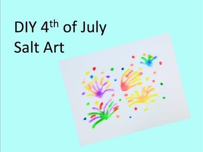DIY 4th of July Salt Art