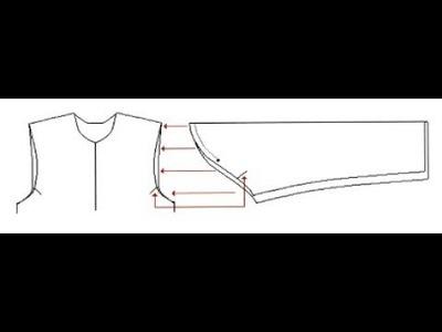 DIY attach cut sleeve to sleeveless tunic diy : sew sleeve to kurti perfect comfy sleeve diy method