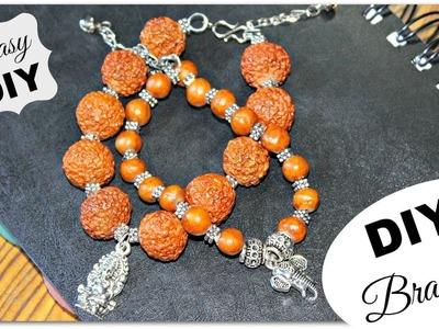 DIY Beaded Charm Bracelet | How To Make Indian Style Bracelets | DIY Jewellery Making