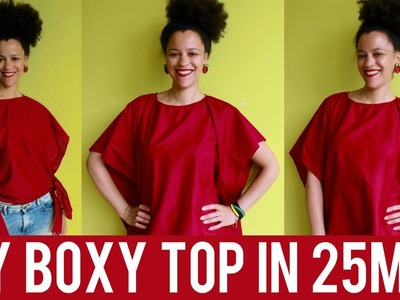 DIY BOXY TOP IN 25MIN | STYLE PANTRY INSPIRED | SEW DIY CLOTHES