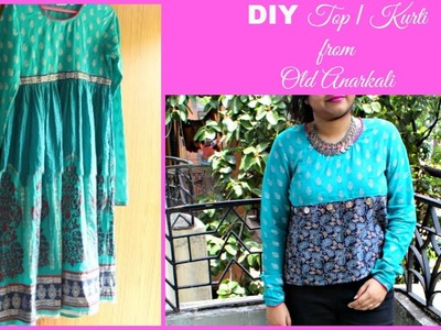 DIY Crop Top from Old Anarkali | DIY Top. Kurti | Repurpose Old Clothes || Pompoms & Tassels