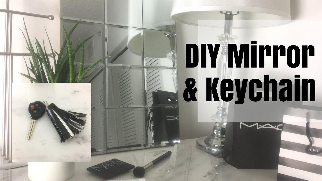 DIY Dollar Tree Pottery Barn Inspired Mirror & FREE DIY Keychain ????