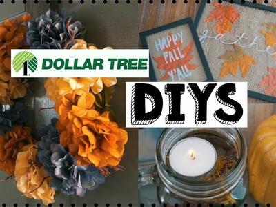 DIY FALL DOLLAR TREE DECOR! 3 FALL DIY DECOR IDEAS! EASY & INEXPENSIVE!