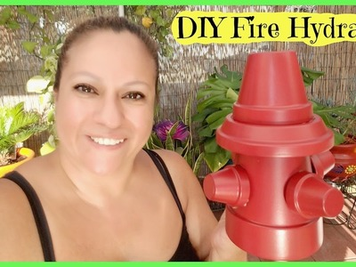 DIY Fire Hydrant With Terracotta Pots