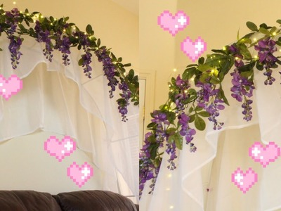 DIY Flower Canopy with String Lights