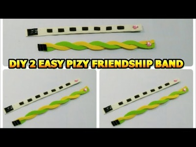 DIY FRIENDSHIP BAND.MAKE 2 EASY PIZY BANDS IN 5 MIN.