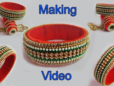 DIY | How to make Maroon color beautiful Silk Thread Bangle | Bangle making video | Today Fashion