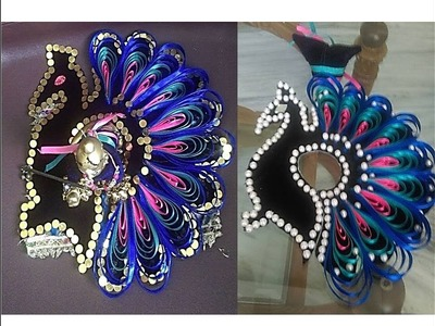 DIY - Make Peacock (mor) Shape Poshak (dress) for Bal Gopal - Janamashtmi special