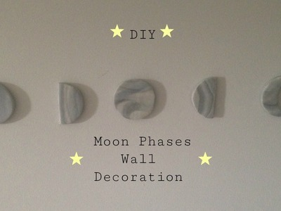 DIY Moon Phases Wall Decoration