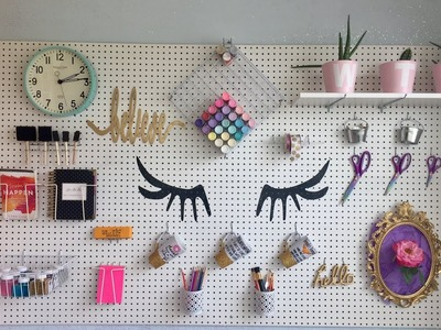 DIY PAINTED & STYLED PEGBOARD