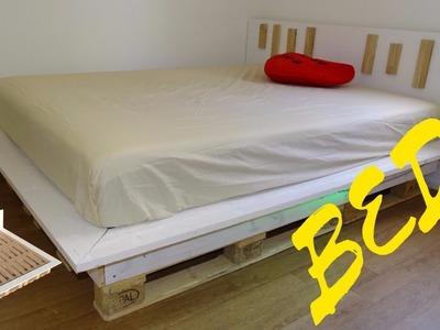 DIY pallet bed + PLAN