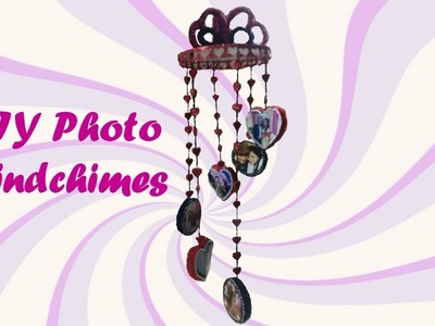 DIY  Photo Wind Chimes with Plastic Bottles