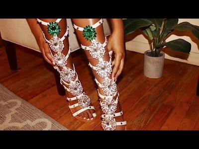 "DIY Rihanna ""So Stoned"" Manolo Blahnik Inspired Sandals"