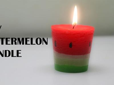 DIY WATERMELON CANDLE  diy candle  