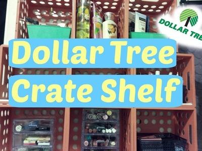 Dollar Tree D.I.Y Crate Shelf