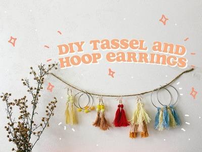 Easy DIY Tassel and Hoop Earrings (Philippines) | Ina Louise
