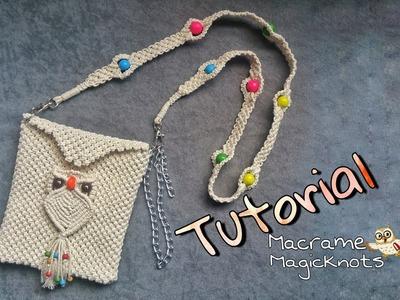 Easy Tutorial of Macrame hand Bag Owl ♥ Macrame Bag Owl ♥