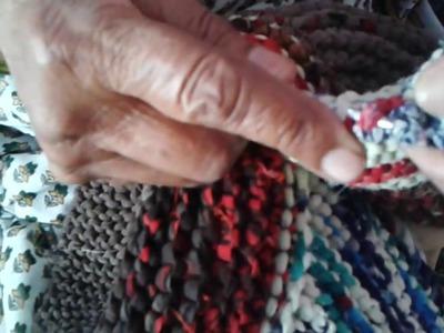 Epic Door Mat From Rags Of Old Sari # 6 (Circle)