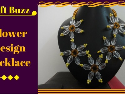 # Flower Design Necklace # How To Make Video Tutorial