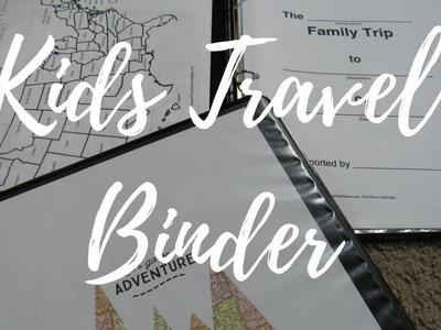 Fun DIY Kids Travel Binder For Road Trips