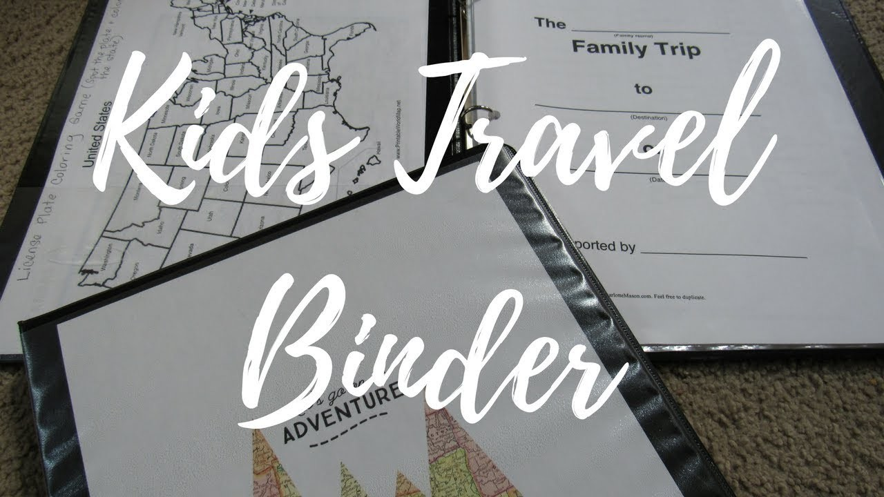 Fun DIY Kids Travel Binder For Road Trips