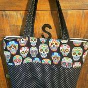 Handmade Skull Market Bag