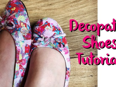 How to Decopatch. Decoupauge Shoes Tutorial
