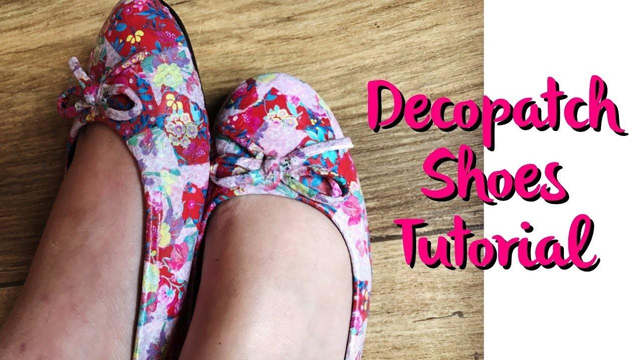 How to Decopatch. Decoupauge Shoes Tutorial